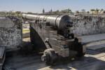 Black Cannon on a Cannon Carriage on the Terreplein of Castillo de San Marcos
