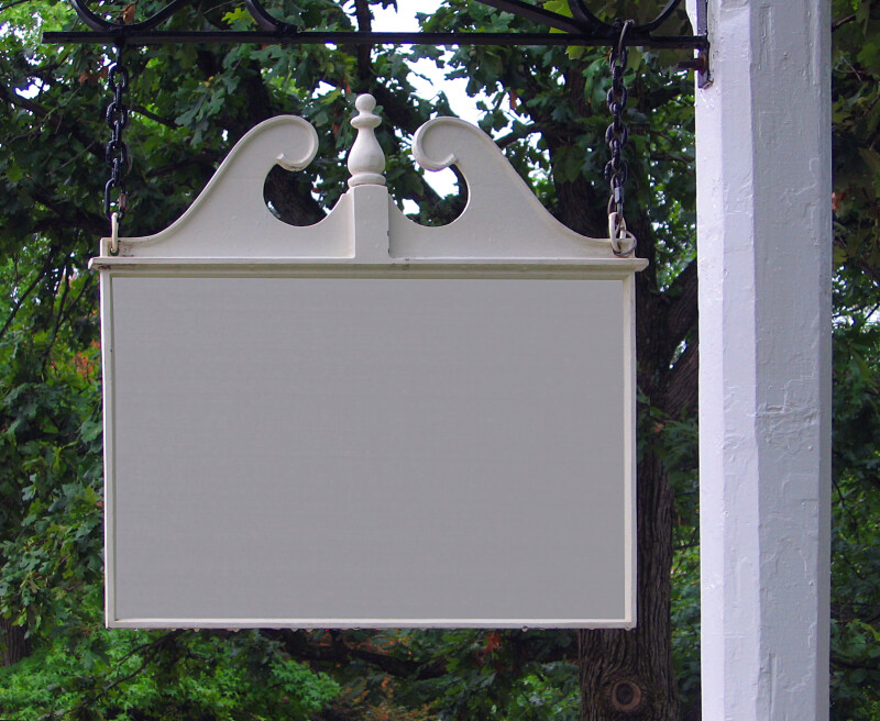 Blank Colonial Style Sign with a Chippendale Pediment