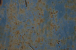 Blue Paint with Rust and Stains
