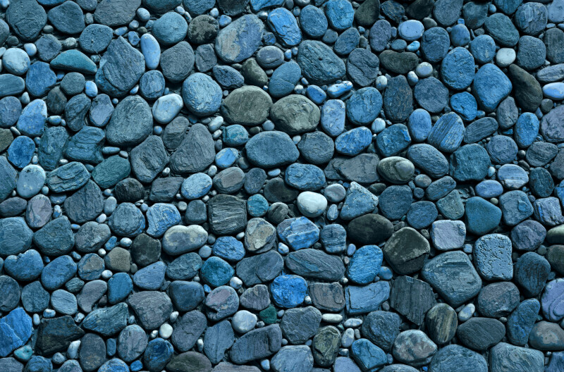 Outdoor Blue Pebbles : Pebbles or small river rock backyard decor place grid