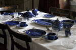 Blue Transfer-Printed Dinnerware on the Table