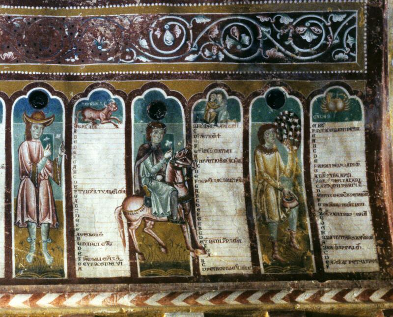Bominaco, Oratory of San Pellegrino, Calendar, April to June