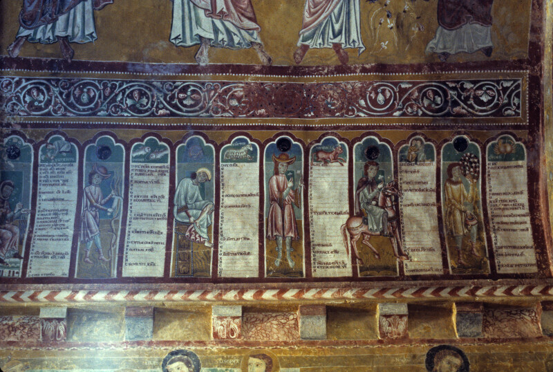 Bominaco, Oratory of San Pellegrino, Calendar, January to June