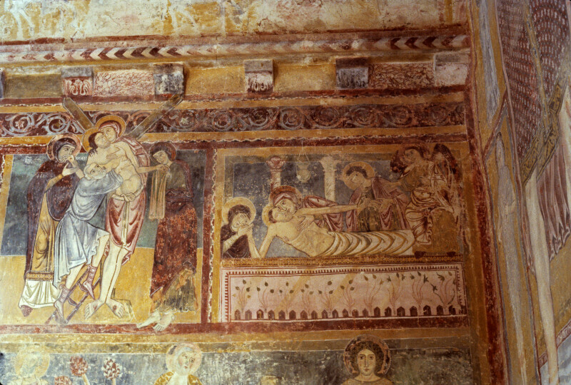 Bominaco, Oratory of San Pellegrino, Deposition and Entombment of Jesus