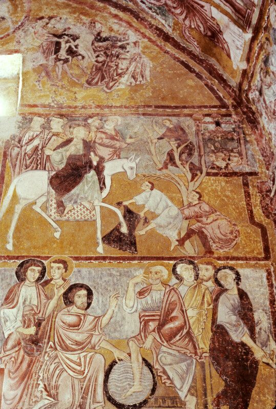 Bominaco, Oratory of San Pellegrino, Massacre of the Innocents, Entry into Jerusalem, Washing of the Feet of the Apostles