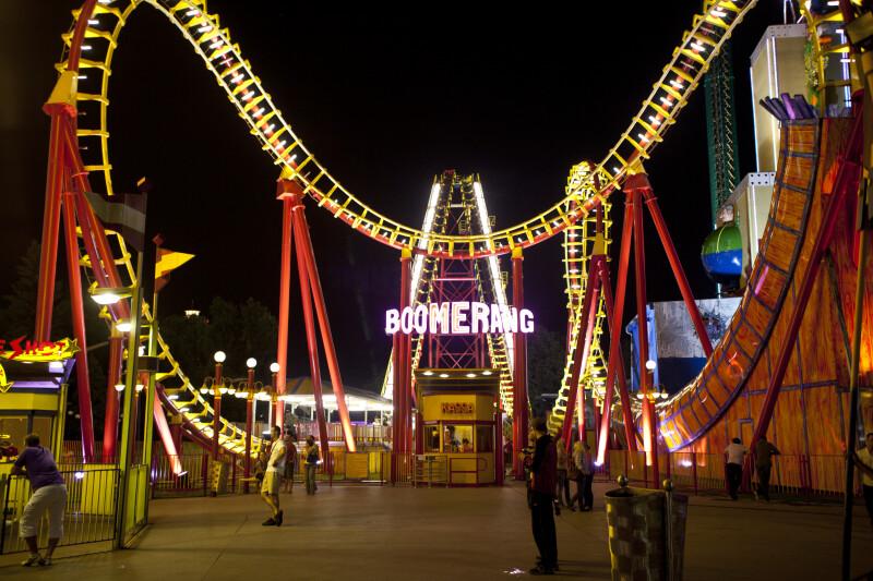 Boomerang Ride at the Prater