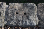 Bore Holes in a Sandstone Block