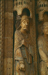 Bourges cathedral, south portal, outer left jamb figure