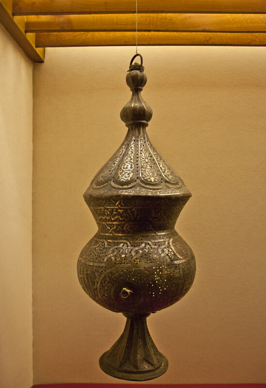 Brass Candlestick at the Museum of Turkish and Islamic Art in Istanbul