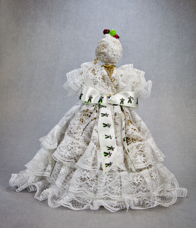 Brazil Female Doll in Festive Clothing (Back View)