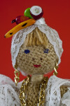 Brazilian Lady Doll Made from Burlap (Close-Up of Face)