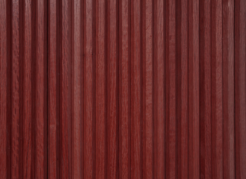 Brick Red Vertical Paneling