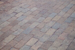 Brick Sidewalk Photographed on the Diagonal