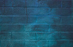 Brick Wall with Blue Paint