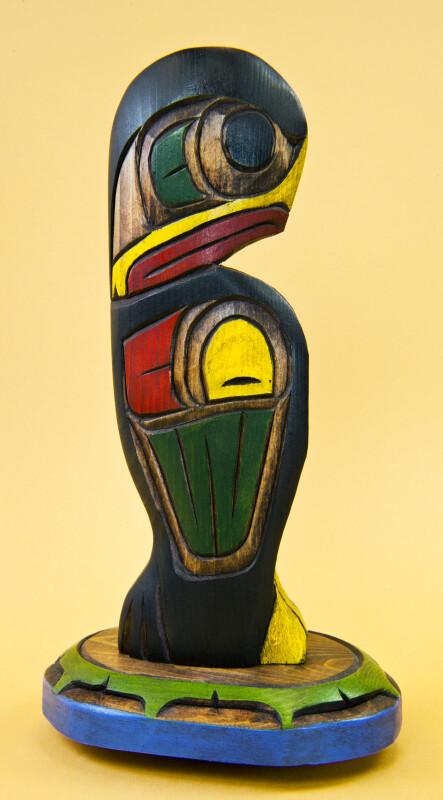 British Columbia, Canada Kwakuitl First Nation Eagle (Profile View)