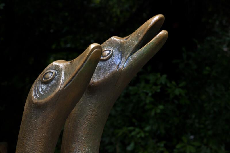 Bronze Bird Heads