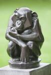 Bronze Chimpanzee Angular Statue