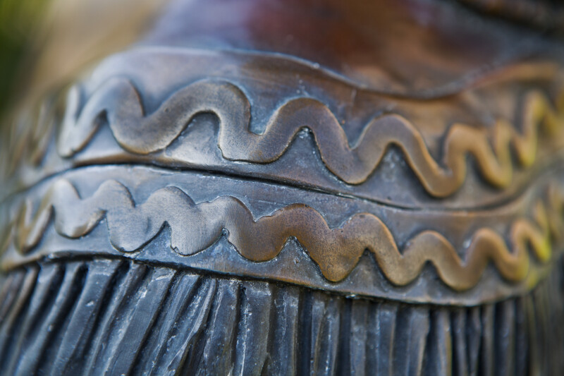Bronze Clothing Detail