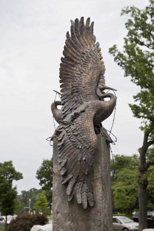 Bronze Cranes