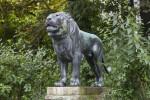 Bronze Lion Statue on Platform