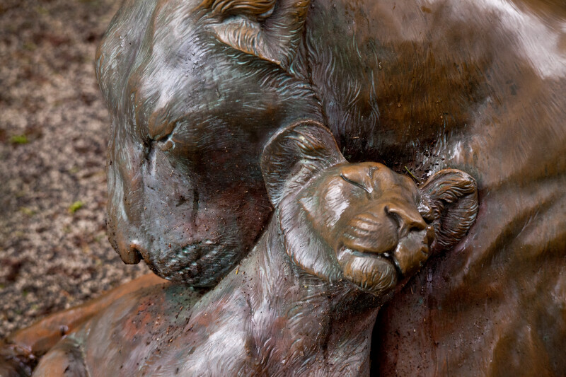Bronze Lioness and Cub