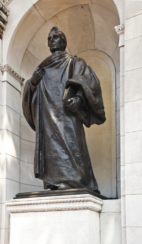 Bronze of Unitarian Preacher William Ellery Channing