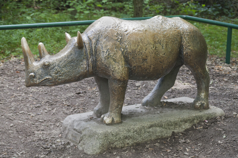 Bronze Rhinoceros Statue