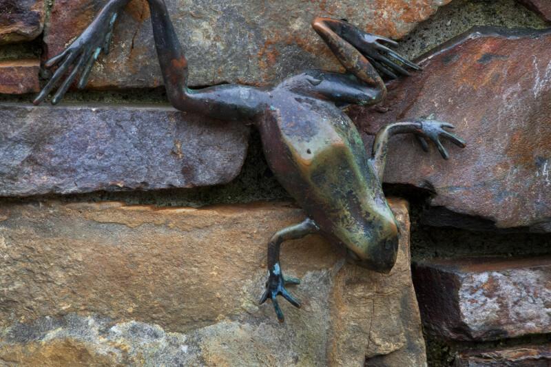 Bronze Statue of Frog