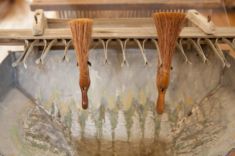 Brushes on Drying Rack