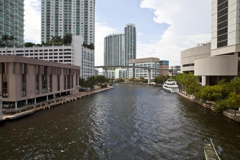 Buildings along the Miami River
