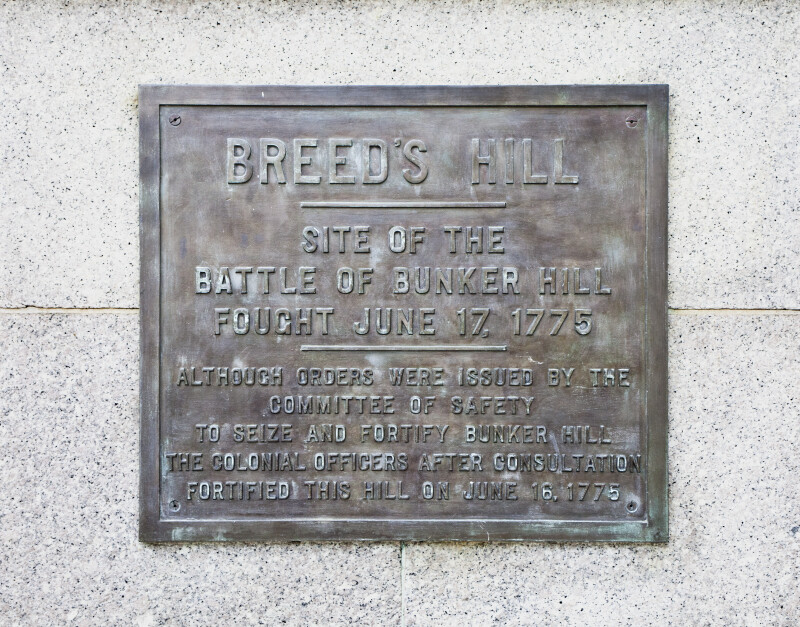 Bunker Hill Monument Plaque
