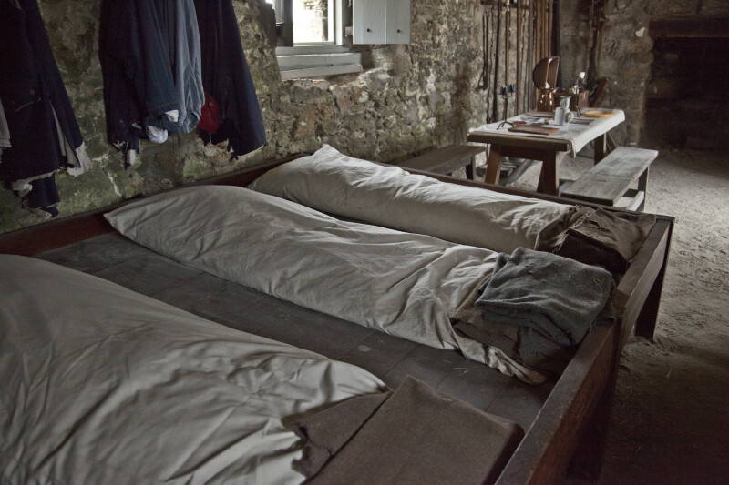 Bunks at Fort Matanzas