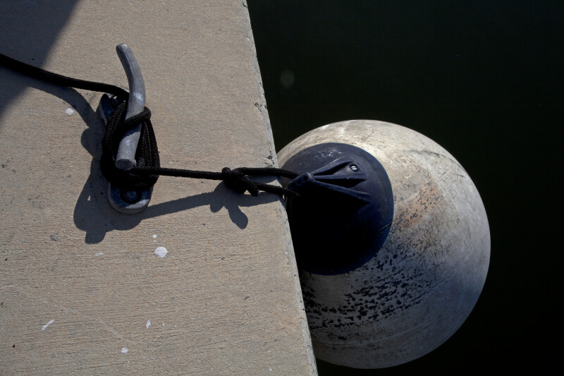 Buoy Tied to a Cleat