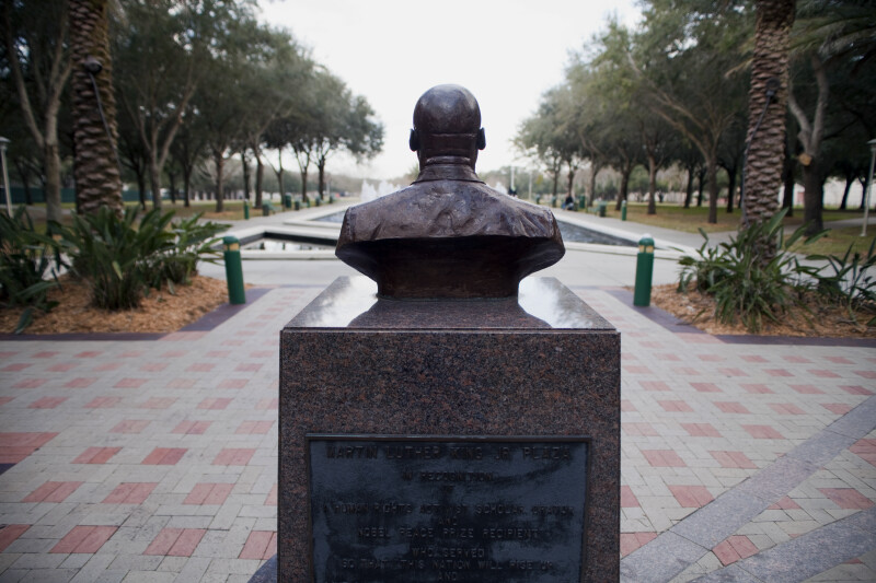 Bust of MLK at USF