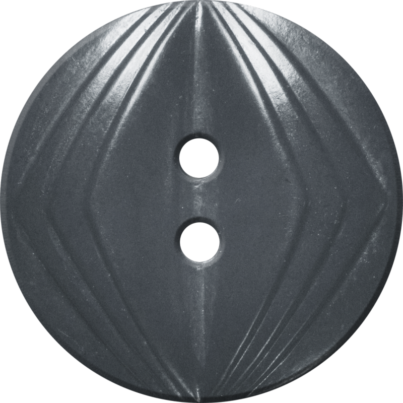 Button with Concentric Diamond Design, Grey