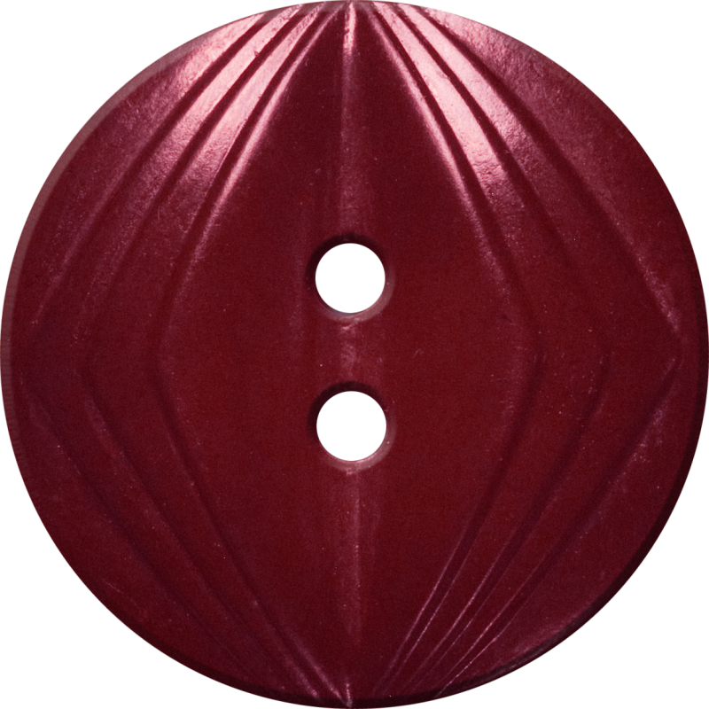 Button with Concentric Diamond Design, Maroon