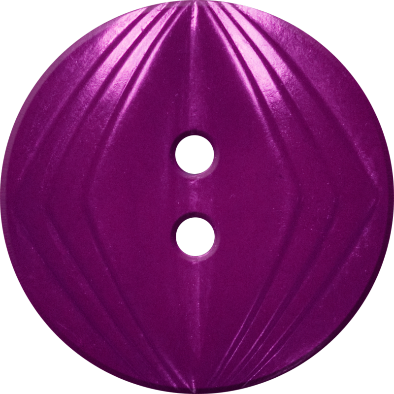 Button with Concentric Diamond Design, Red-Violet
