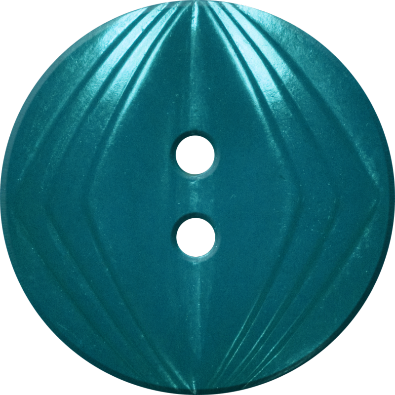 Button with Concentric Diamond Design, Turquoise