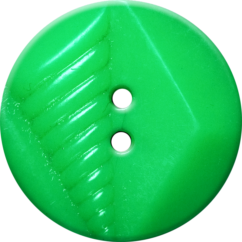 Button with Diamond and Diagonal Line Design, Green