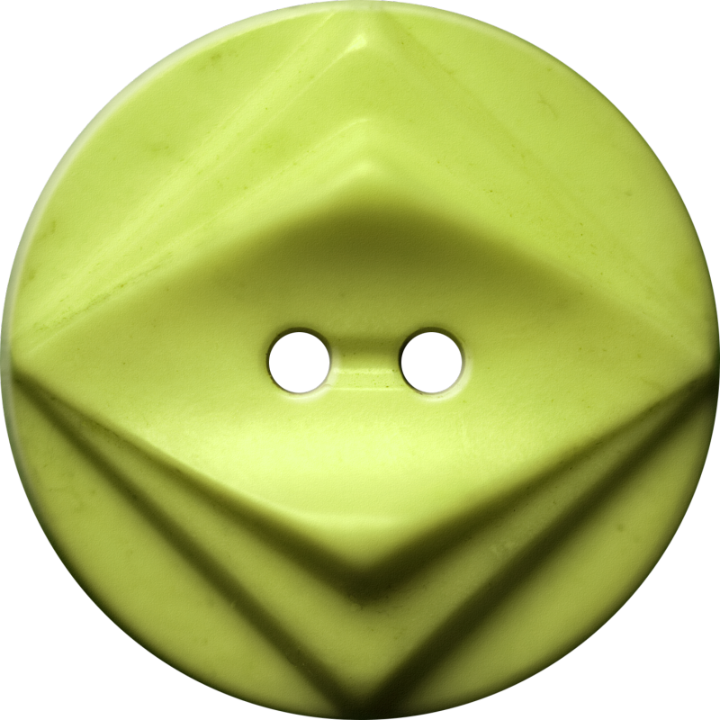 Button with Double Diamond Motif, Yellow-Green