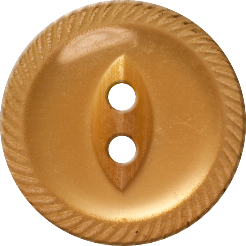 Button with Incised Border and Almond-Shaped Center, Tan