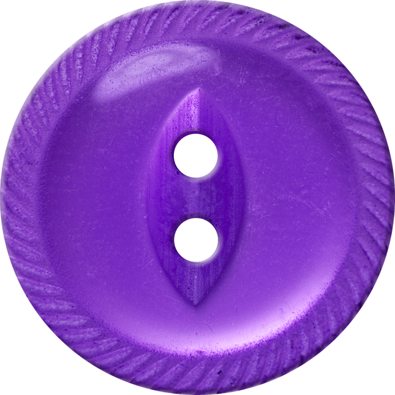Button with Incised Border and Almond-Shaped Center, Violet