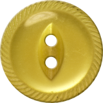 Button with Incised Border and Almond-Shaped Center, Yellow