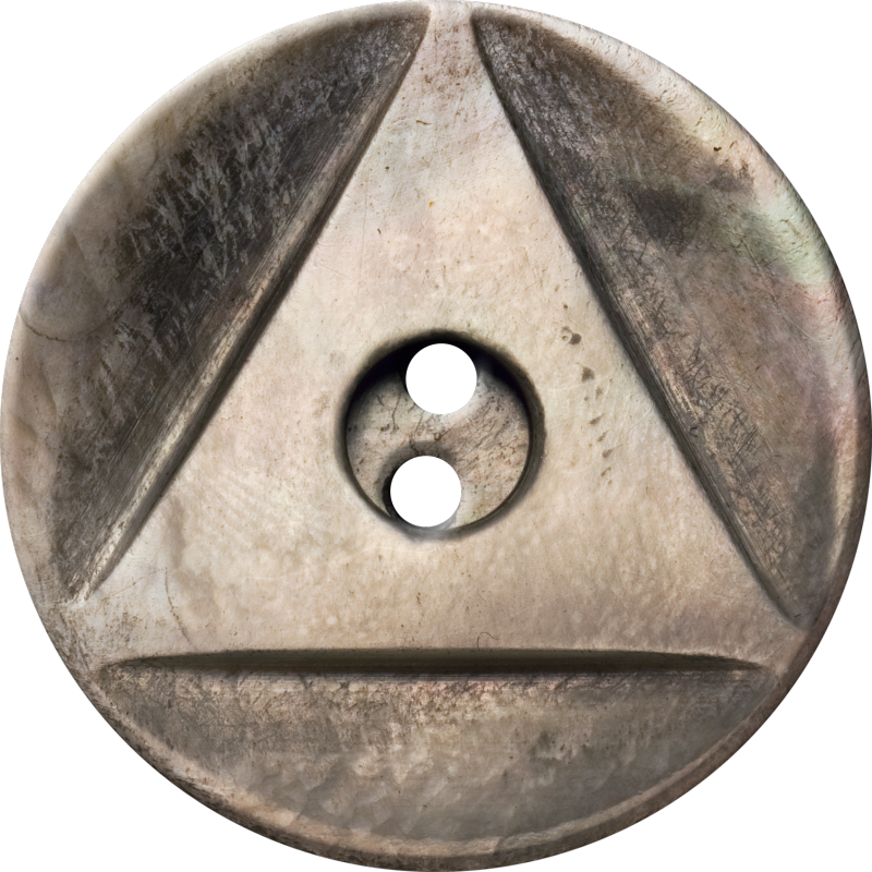 Button with Inscribed Triangle, Brown