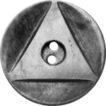 Button with Inscribed Triangle, Grey