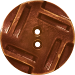 Button with Insribed Rectangles Design, Brown