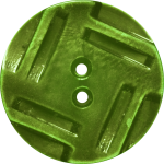 Button with Insribed Rectangles Design, Chartreuse
