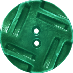 Button with Insribed Rectangles Design, Green