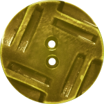 Button with Insribed Rectangles Design, Mustard