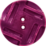 Button with Insribed Rectangles Design, Red-Violet